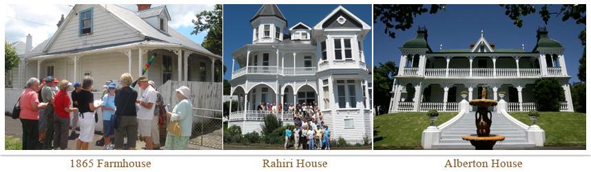 Photos of three historic Mt Albert homes