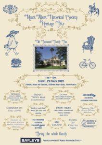 Mt Albert Historical Society Fete poster